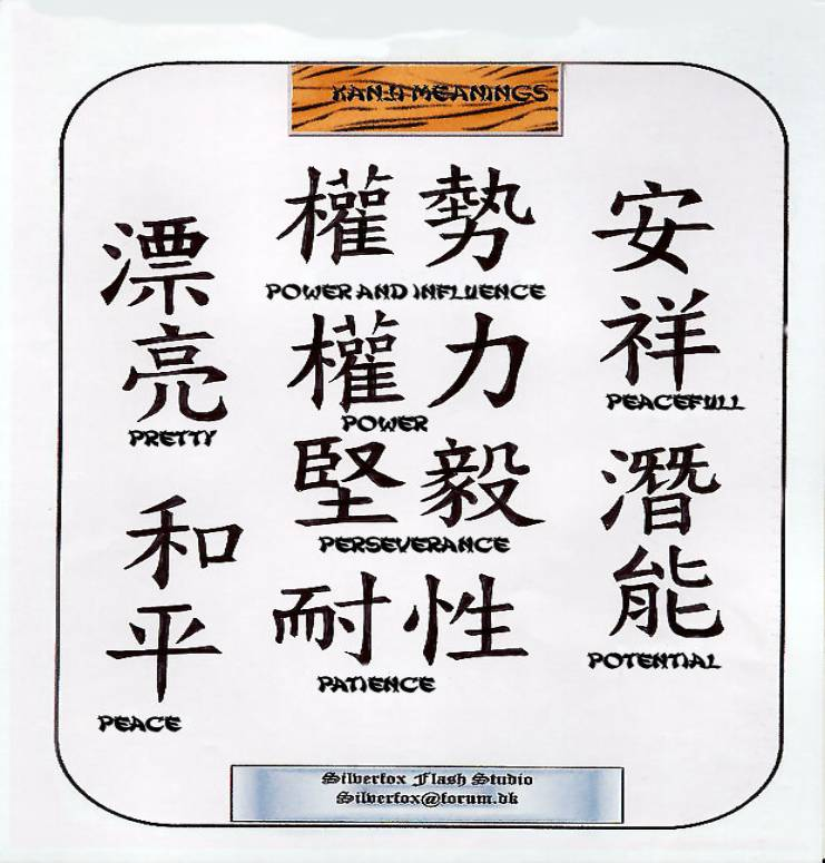 Kanji tattoos. Here's are some examples of a few pages Image14P2.jpg